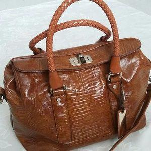 Handbags - Duffel croc embossed travel weekender